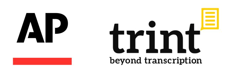 Associated Press and Trint Logos