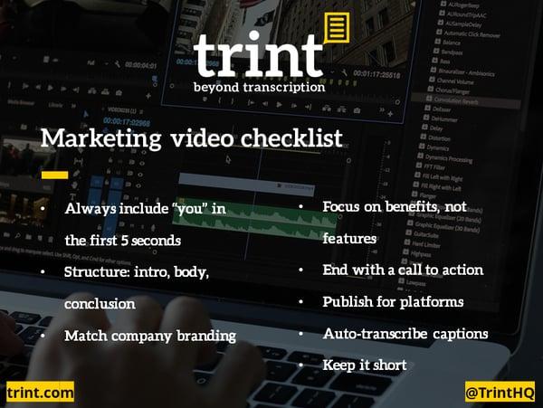 Marketing video Infographic