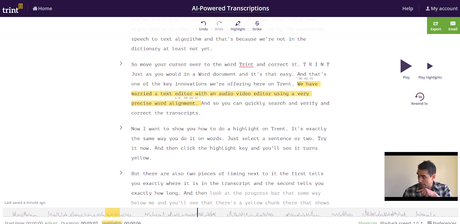 Manually transcribing takes too long. Automating it is easy.
