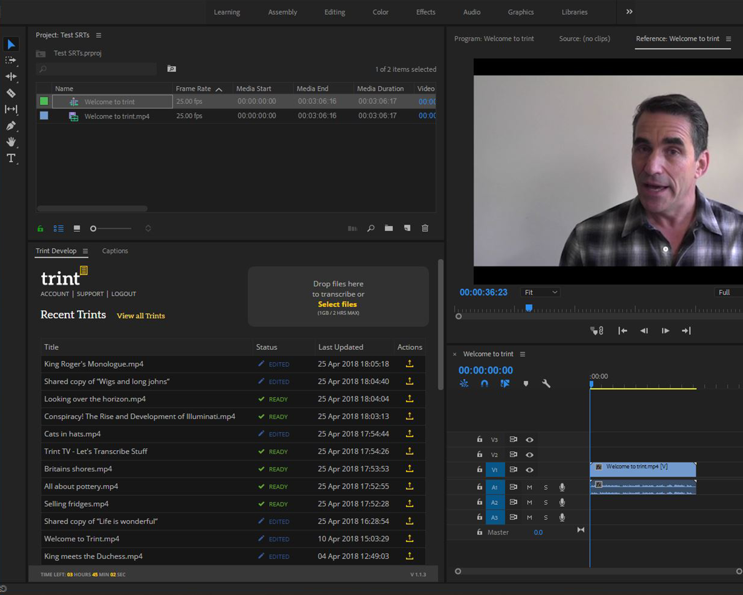How to automate your captions in Adobe® Premiere® Pro with Trint